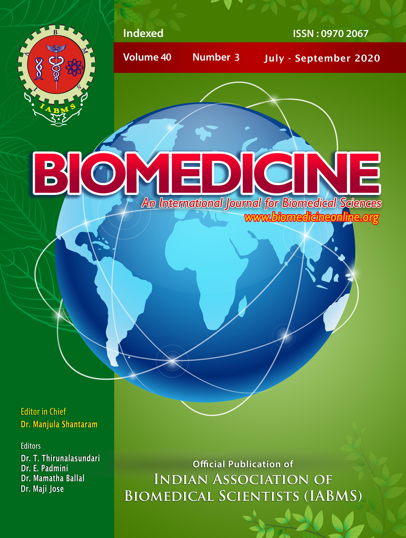 View Vol. 40 No. 3 (2020): Biomedicine-40(3)-2020