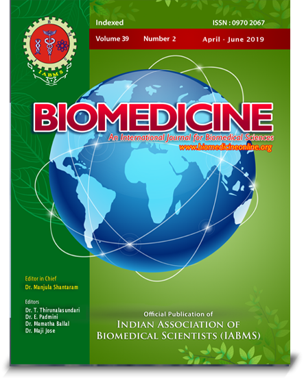 View Vol. 39 No. 2 (2019): Biomedicine-39(2)-2019
